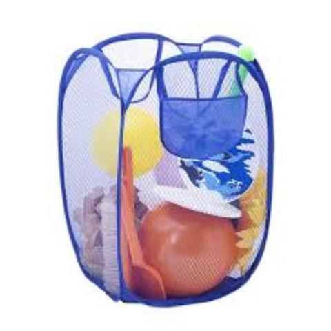 Imagem de Kit 2 Cesto Organizador Dobrável De Brinquedo Ou Roupa Suja