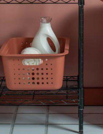 Imagem de Kit 2 Cestos Caixas Organizador Grande Lavanderia Closet Roupas - Ou