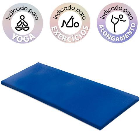 Imagem de Kit 2 Colchonetes 94x44x3 Tapete Yoga Academia Ginástica de espuma D20