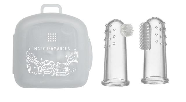 Imagem de Kit 2 Dedeiras de Silicone Massageadora para Bebês - Marcus & Marcus