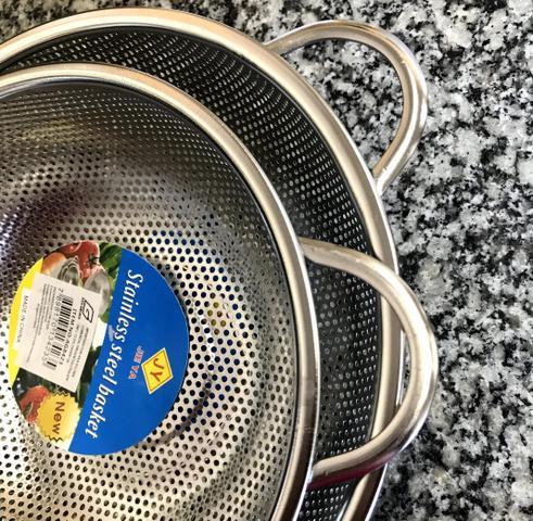 Imagem de Kit 2 Escorredor De Macarrão/arroz Com Alça Multiuso