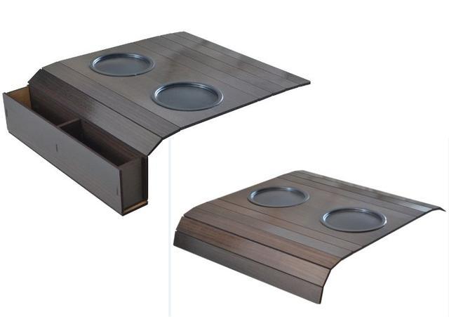 Imagem de Kit 2 Esteiras Bandejas Flexiveis Porta Copos Porta Controle