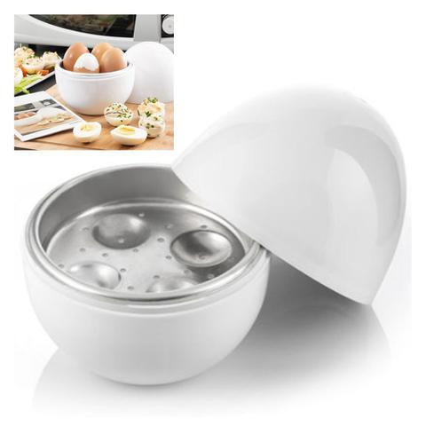 Imagem de Kit 2 Forma Fazer Ovo Cozido No Microondas Egg Cooker 4 Ovos