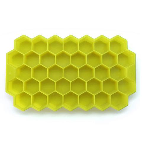 Imagem de Kit 2 Formas de Gelo Silicone Chocolate Bombom Colmeia Cubo