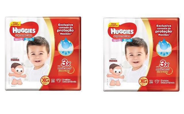 Imagem de Kit 2 Fralda Descartável Infantil Mônica Supreme Care XG 26 unidades