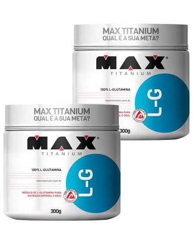 Imagem de Kit 2 Glutamina 300 Gramas L G Max Titanium