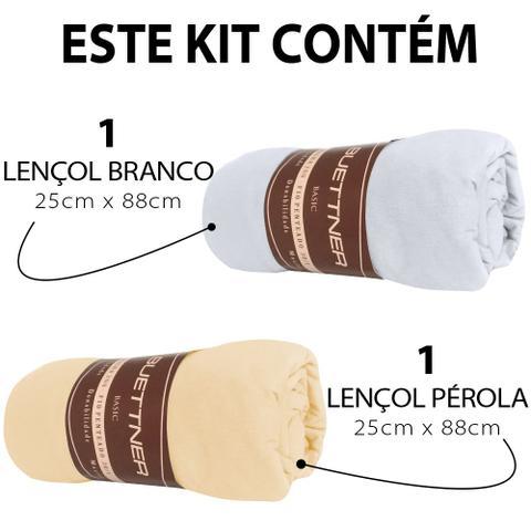 Imagem de Kit 2 Lençóis Casal de Malha 100% Algodão com Elástico Buettner