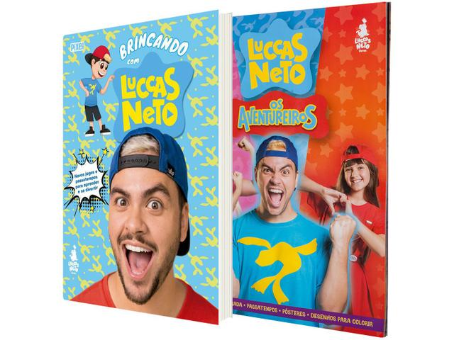 Imagem de Kit 2 Livros Luccas Neto em Os Aventureiros +