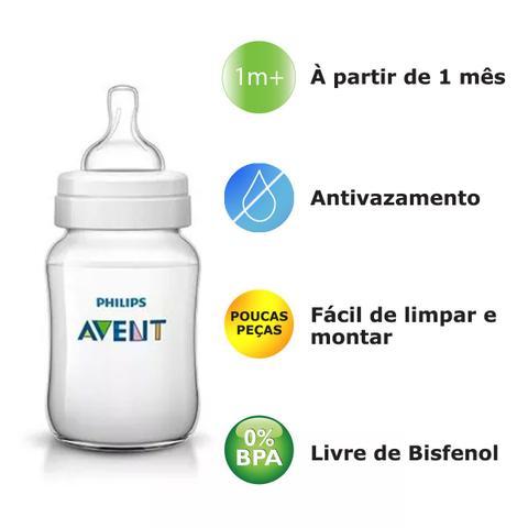 Imagem de Kit 2 Mamadeira Classic Anticólica AVENT 125/260ml Cristal