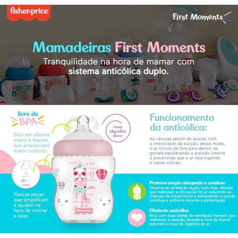 Imagem de Kit 2 Mamadeiras First Moments Rosa 270/330ml Fisher Price