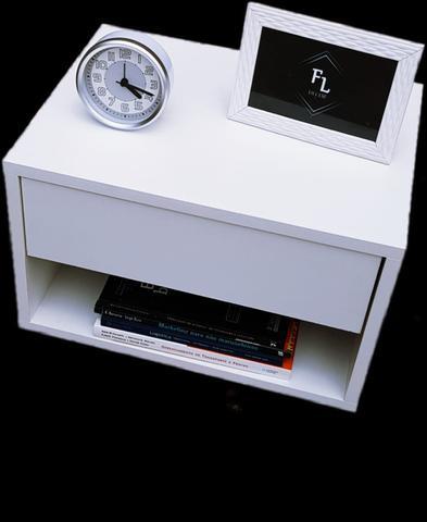 Imagem de Kit 2 Mesas de Cabeceira 40cm com gaveta 100% MDF