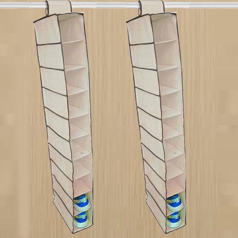Imagem de Kit 2 Organizador de Sapatos Roupas 10 Nichos TNT Para Closet Guarda Roupa E Armário Kehome