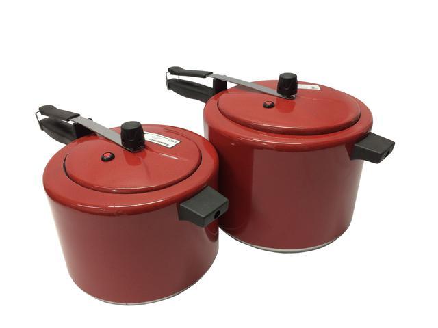 Imagem de Kit 2 Panelas De Pressão 4,5 E 7 Litros Colorida Vermelho