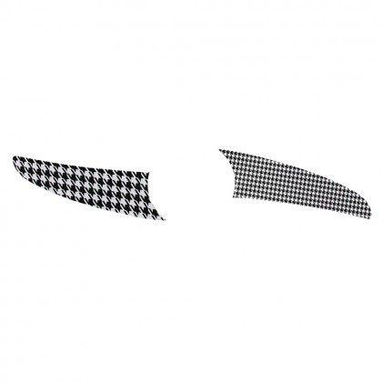 Imagem de Kit 2 Pás Spirit Geométrico Xadrez Preto e Branco L54