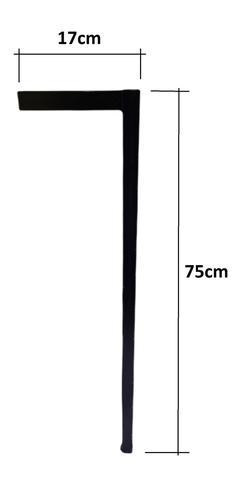 Imagem de Kit 2 Pé Base 75cm Industrial Tubular 25mm Escrivaninha Mesa Aparador
