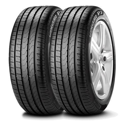 Imagem de Kit 2 Pneu Pirelli Aro 16 195/55r16 91v Cinturato P7 Extra Load