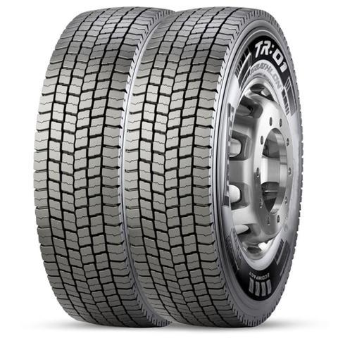Imagem de Kit 2 Pneu Pirelli Aro 22.5 275/80r22.5 149/146m TL M+S Tr01
