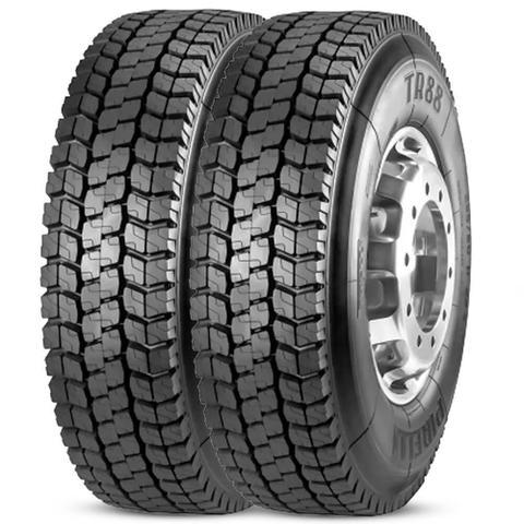 Imagem de Kit 2 Pneu Pirelli Aro 22.5 295/80r22.5 152/148m Borrachudo Tr88