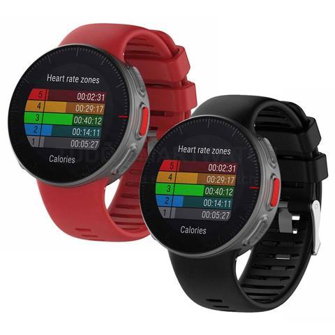Imagem de KIT 2 Pulseiras de Silicone Preto e Vermelho para Relógio Polar Vantage V