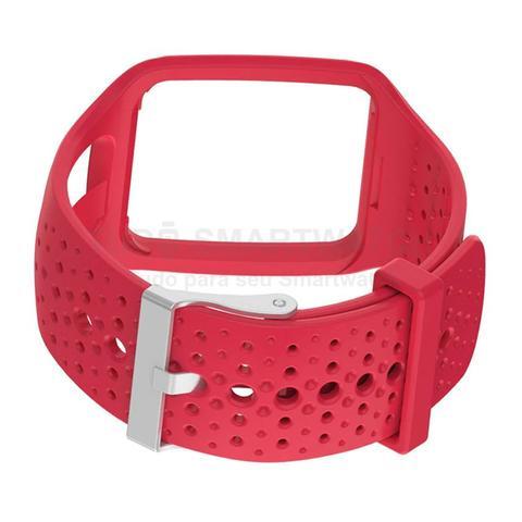 Imagem de KIT 2 Pulseiras de Silicone Preto e Vermelho para Relógio TOMTOM Runner 1