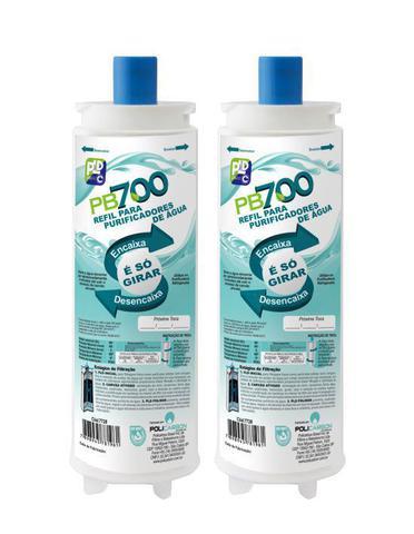 Imagem de Kit 2 Refis Filtro PB700 para Masterfrio Rótulo Azul