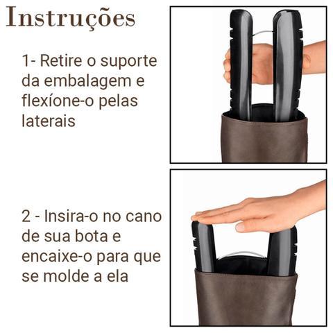 Imagem de Kit 2 Suporte Par de Botas Organizador Protetor Guarda Roupas Armário Closet Ordene OR62500