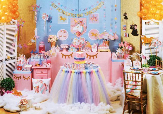 Imagem de Kit 2 Suportes P/Doces Unicórnio Decoração Festas