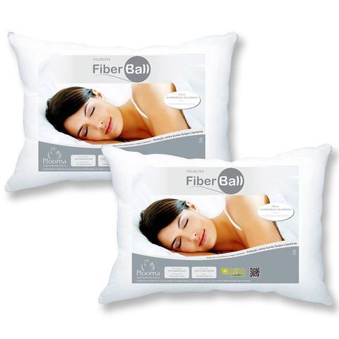Imagem de Kit 2 Travesseiros Fiber Ball 50x70 Plooma