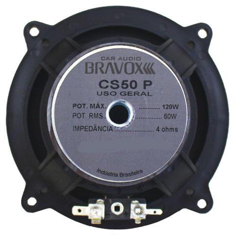 Imagem de Kit 2 Vias Bravox 5 Pol CS50P 120W RMS Bravox + PRESENTE