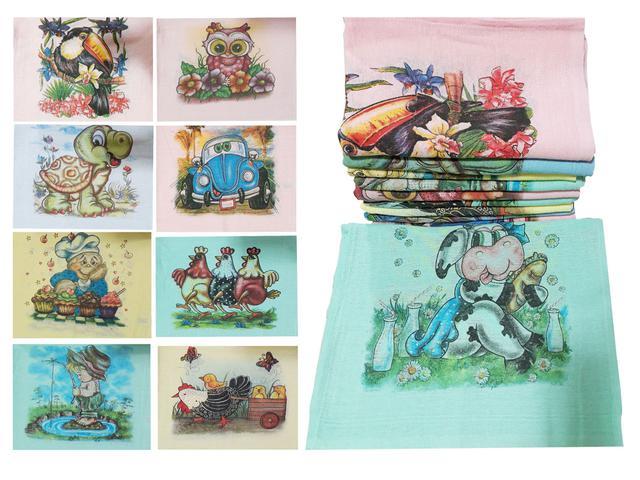 Imagem de Kit 20 Panos De Prato Atacado Colorido Fesbar N1 Promoção