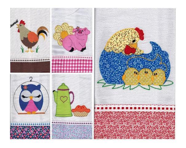Imagem de Kit 20 panos de prato em patchwork
