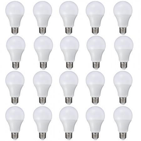 Imagem de Kit 20 Peças - Lâmpada LED Bulbo 9W Branco Frio Rosca E27 Bivolt 90 Economia