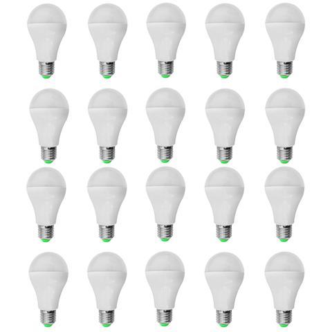Imagem de Kit 20 PeÇas - Lampada Led Bulbo PlÁstico 7w Bivolt Branco Frio 6500k