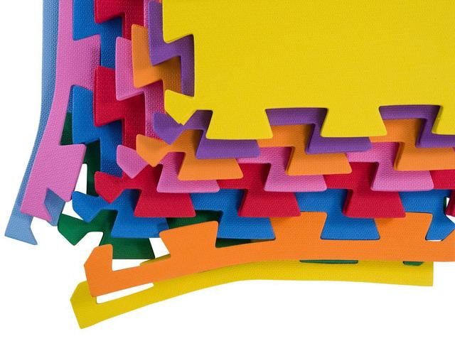Imagem de Kit 20 Placas Tapete De Eva Tatame 50x50 - 10mm Colorido