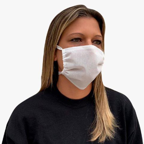 Imagem de Kit 20 Protetor facial  adulto de tnt duplo proteção lavável