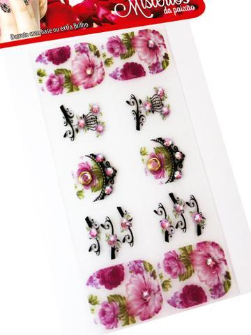 Imagem de Kit 200 Cartelas Películas de Gel para Unhas Mistérios, Arte Sedução