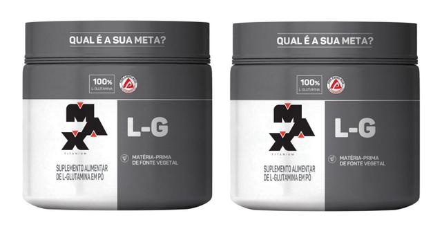 Imagem de kit 2x L Glutamina 150g Max Titanium