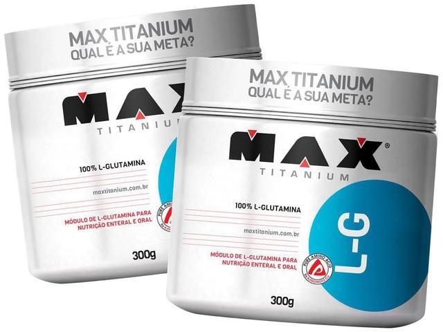 Imagem de Kit 2x L-Glutamina 300g - Max Titanium