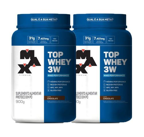 Imagem de Kit 2x Top Whey 3W Mais Performance 900g Max Titanium