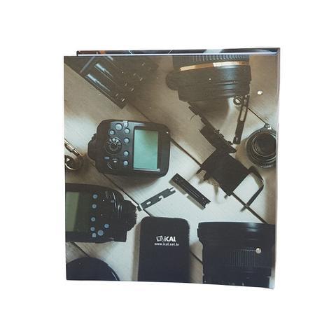 Imagem de Kit 3 Álbuns Autocolante 15 Folhas Branca Ical Camera