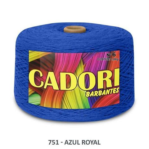Imagem de kit 3 Barbante Cadori N06 - 1,8KG Azul Royal