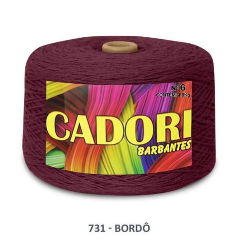 Imagem de kit 3 Barbante Cadori N06 - 1,8KG Bordo