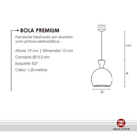 Imagem de Kit 3 Bola M Premium 12cm Diâm. X 19cm Alt.