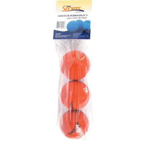 Imagem de Kit 3 Bolas para Frescobol nº3 4703 Bel Fix
