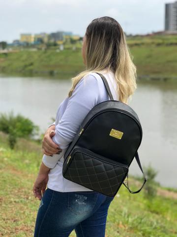 Imagem de Kit 3 Bolsa Feminina Mochila Bordada Leve3 Pague2 Trabalho Escola faculdade