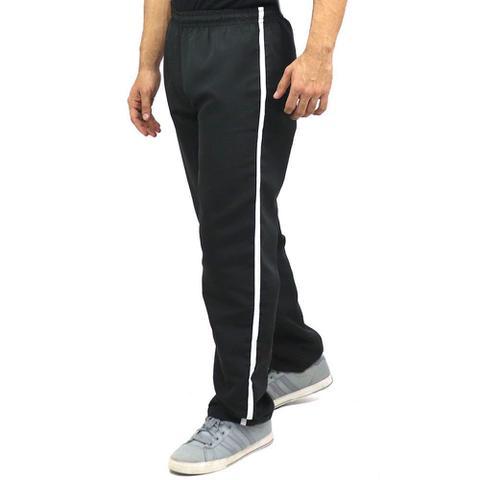 Imagem de Kit 3 Calças Masculinas Plus Size Tactel Faixa Bolsos Cordão