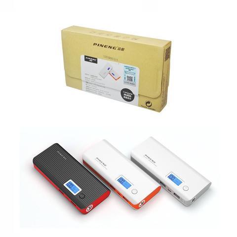 Imagem de Kit 3 Carregador Portátil Pineng Power Bank 10000mah + Cabo 3x1 Usb  Compatível com NOKIA.