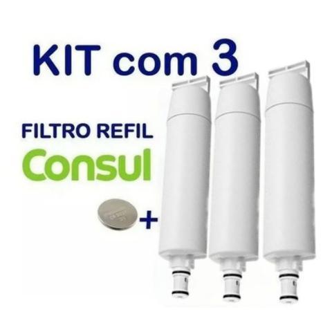 Imagem de Kit 3 Filtro Refil Consul Facilite Bem Estar Compatível Cix