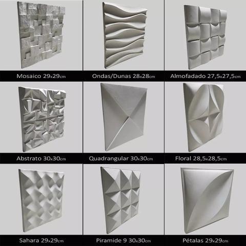 Imagem de Kit 3 Formas Borracha Com Plastico Para Placas Gesso 3D