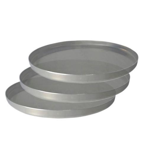 Imagem de Kit 3 Formas de Pizza Alumínio Grande 35 cm Uso Profissional